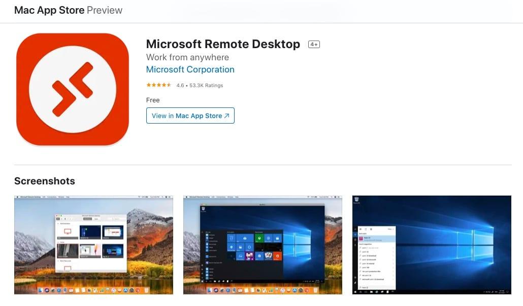 Microsoft remote desktop for Mac OS